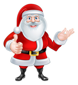274x300 Cartoon Santa Claus Hands Royalty Free Stock Image