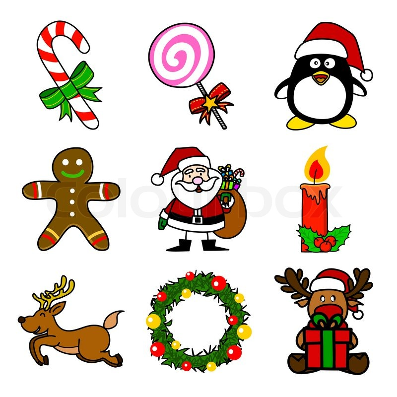800x800 Christmas Cartoon Stock Vector Colourbox