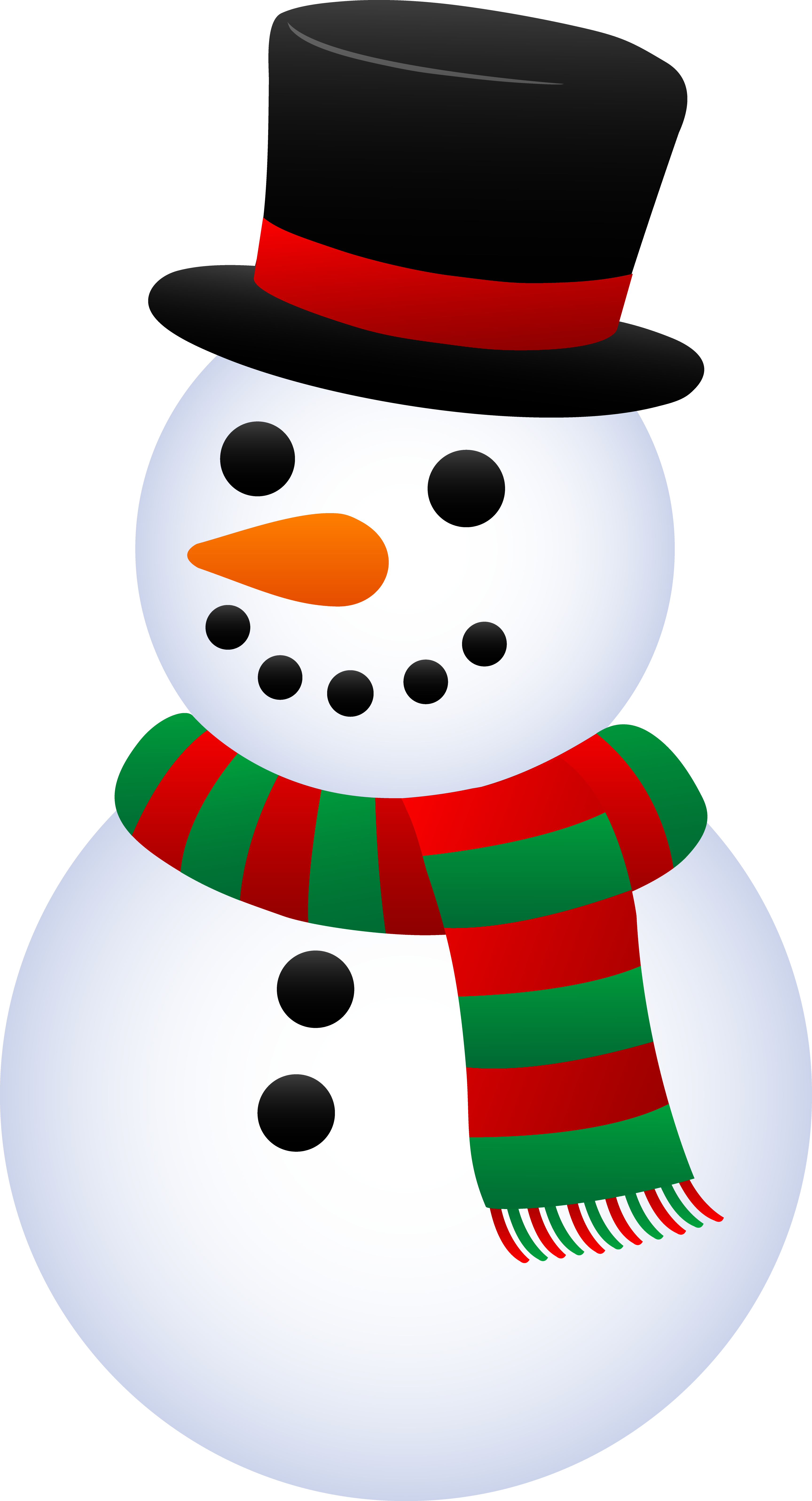 3455x6386 Christmas Snowman Cartoon Clipart
