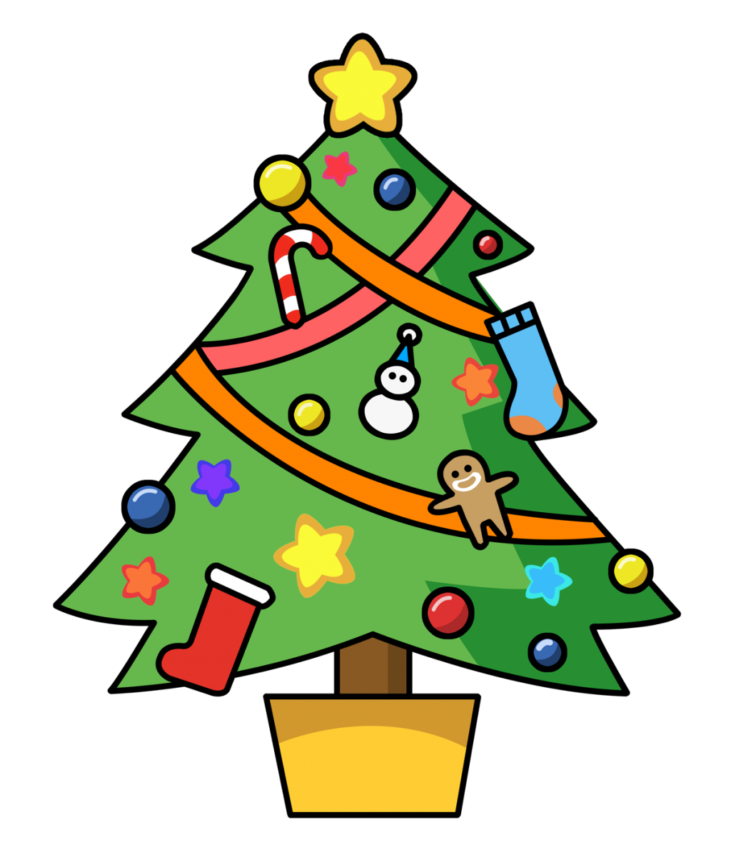 1024x1183 Christmas ~ Christmas Cartoon Tree Clip Art Themes With Snow