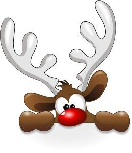 259x300 Funny Reindeer By @cyberscooty, Cartoon Reindeer Rock Painting