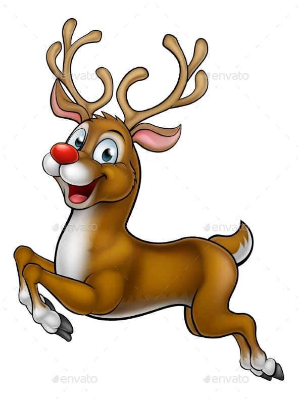 590x790 Reindeer Christmas Cartoon Character By Krisdog Graphicriver