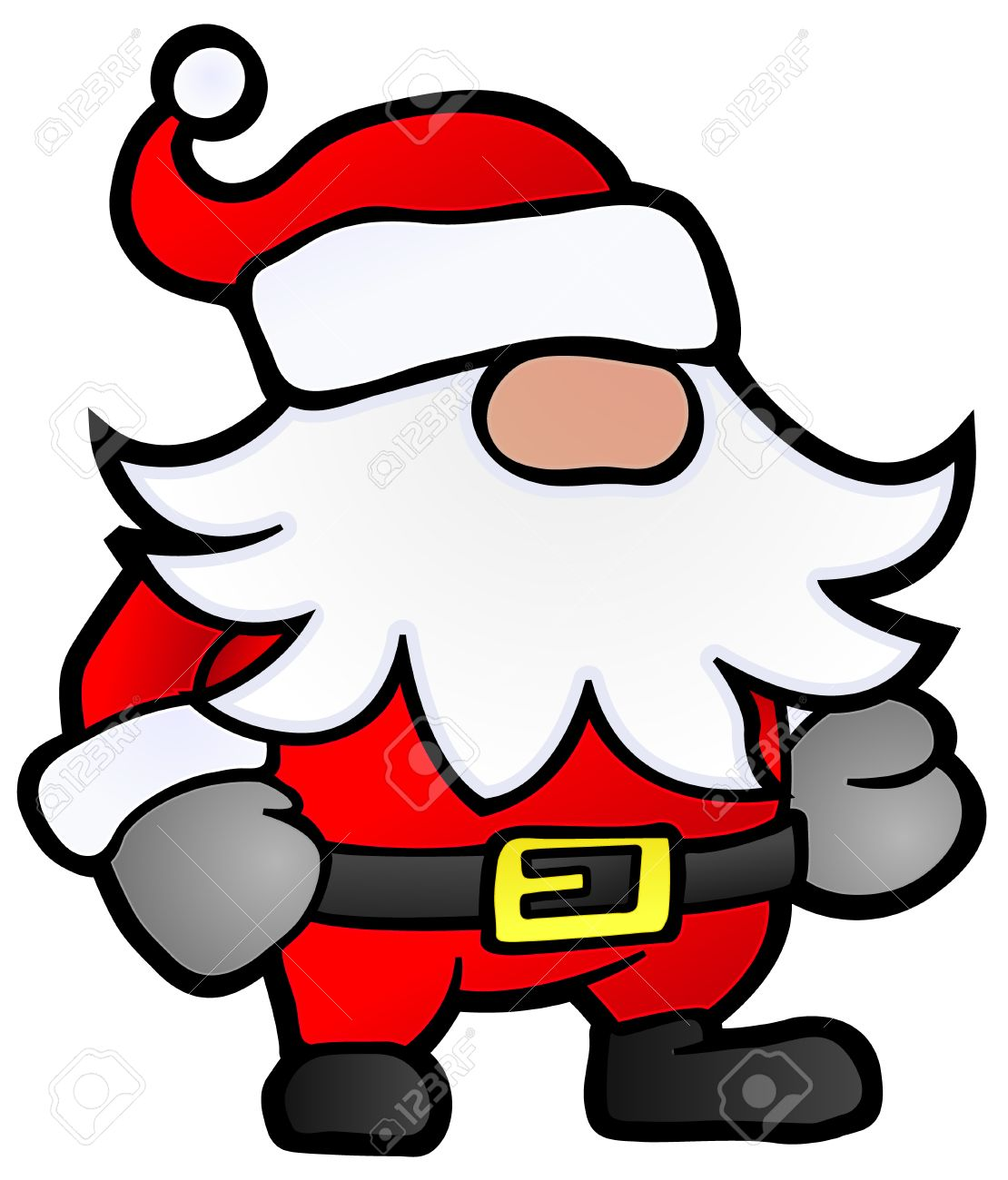 1110x1300 Small Santa Claus Cartoon, Stylized Christmas Illustration