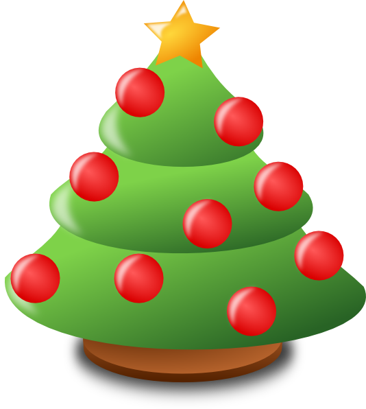 534x596 Cartoon Christmas Tree Clip Art