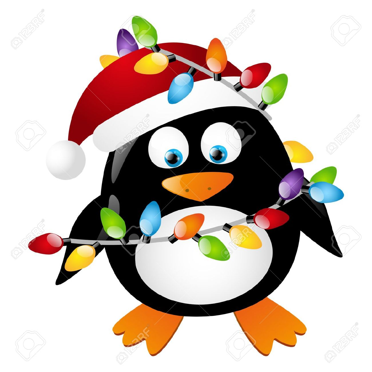1300x1300 Christmas Penguin Clipart