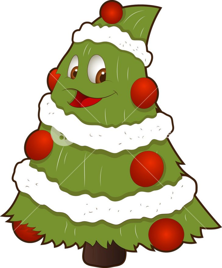 728x881 Christmas ~ Free Cartoon Christmas Tree Vector Christmas Cartoon