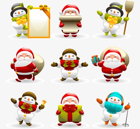 467x429 Vector cute Christmas, Vector, Christmas, Cartoon Combination PNG