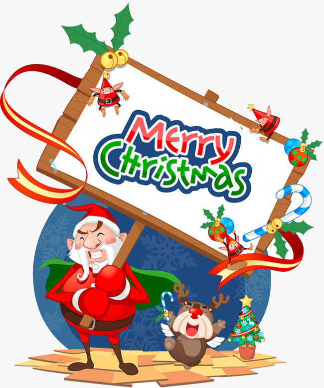 650x778 Christmas Cartoon, Indicator, Christmas Promotion, Ribbon