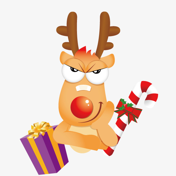 567x567 Christmas Cartoon Deer, Vector, Cartoon, Christmas Deer Png