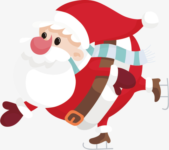 650x577 vector is skiing santa claus, Vector, Christmas, Cartoon PNG and