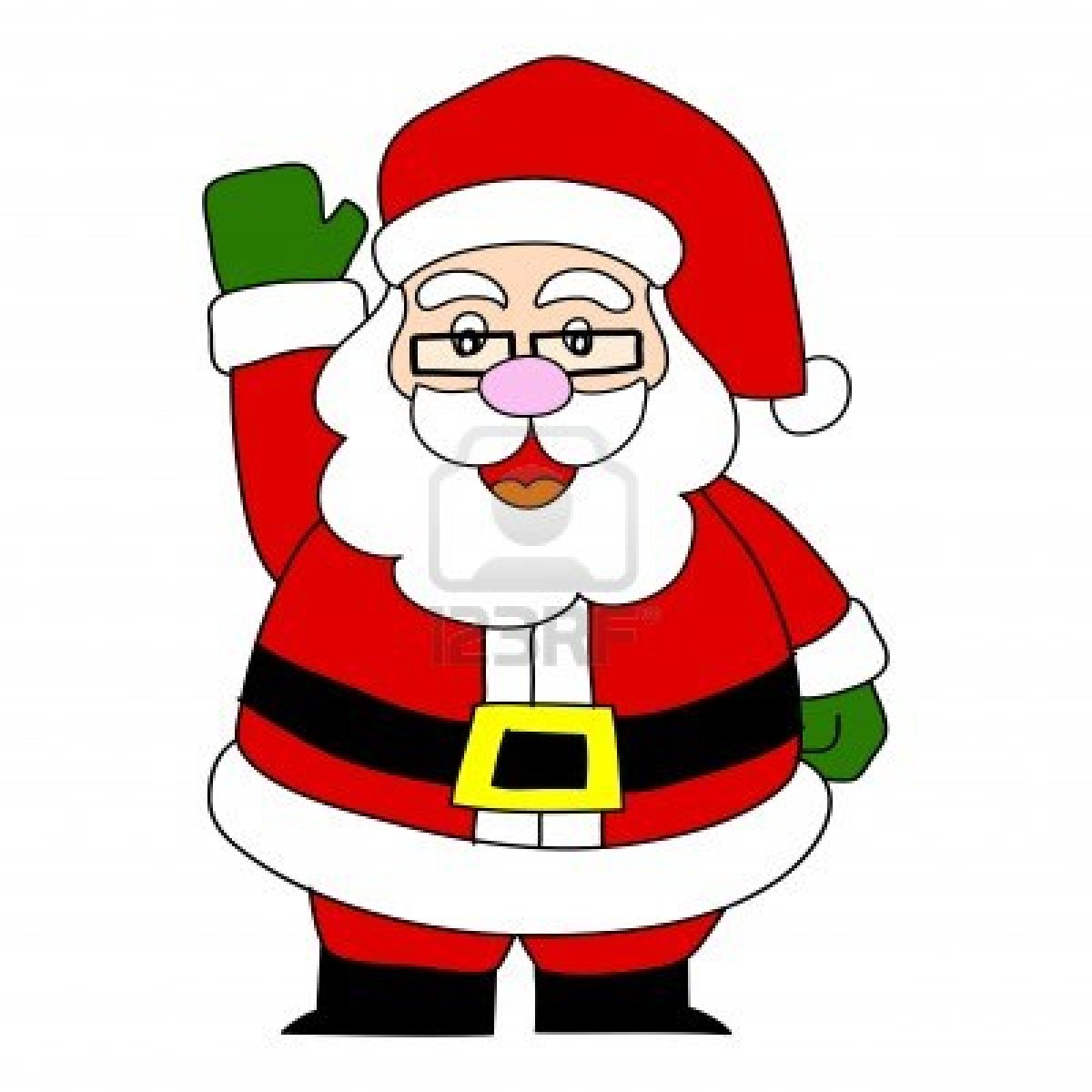 1200x1200 Cartoon santa clipart