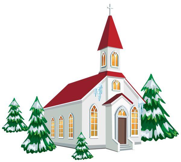 600x538 Christmas Clipart Church