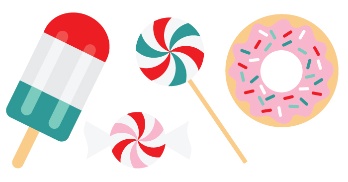 700x366 Festive Sweets Christmas Clip Art And Cut Files