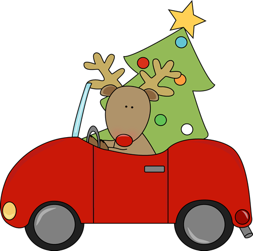 500x496 Truck With Christmas Tree Clipart