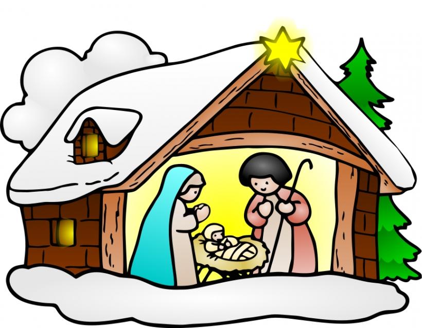 820x638 Free Religious Christmas Clip Art