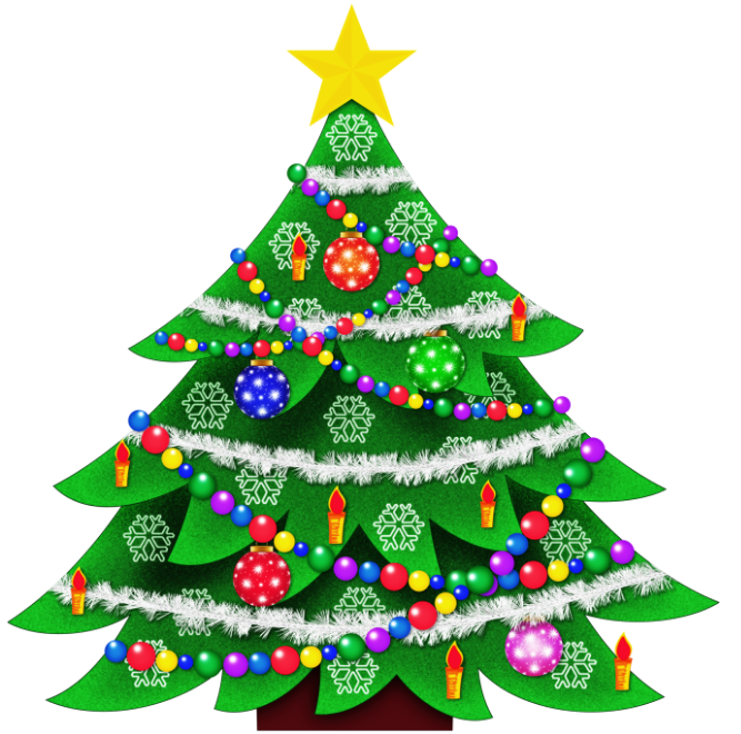 667x660 Merry Christmas Clip Art Free Tree Clipart For 6