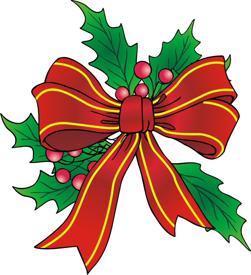 837x918 christmas clip art Christmas Bow Clip Art