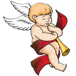 250x250 Free Vintage Angels Christmas Clipart
