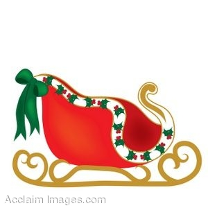 300x300 Clip Art Of A Christmas Sleigh