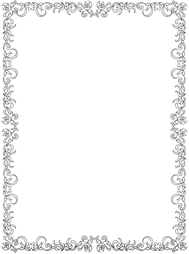 Christmas Clipart Black And White Border