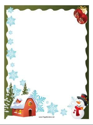 Christmas Clipart Borders For Word Documents | Free download best ...