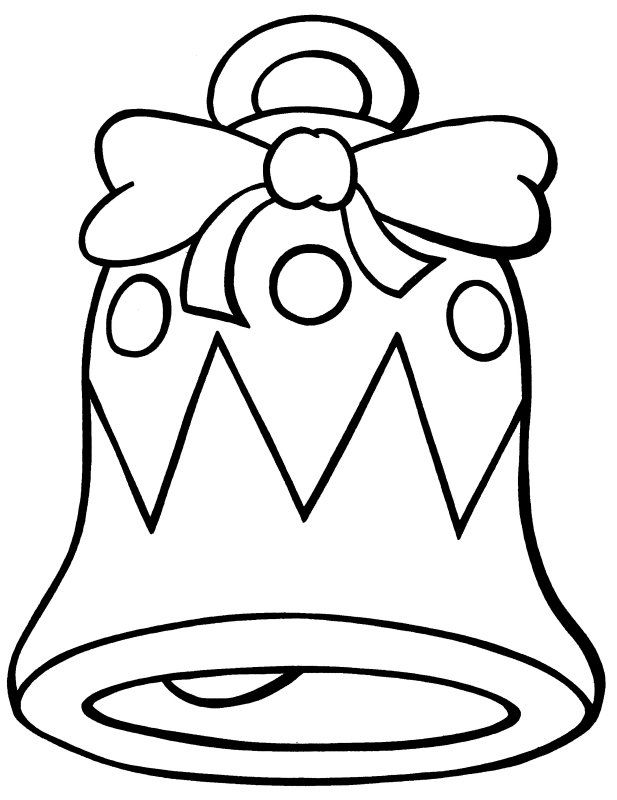 Christmas Clipart Coloring Pages