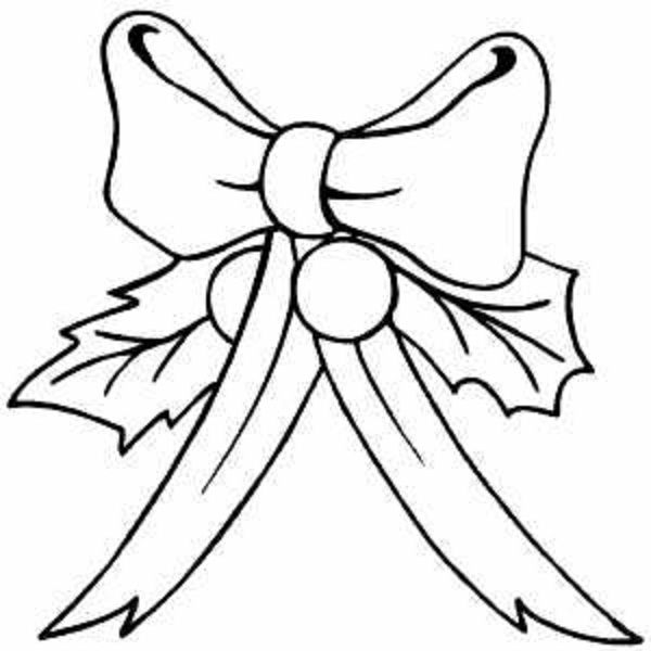 600x600 coloring page christmas bow clip art merry christmas amp happy new