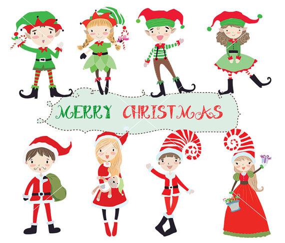 570x486 cute christmas clipart santa clipart cute elf instant