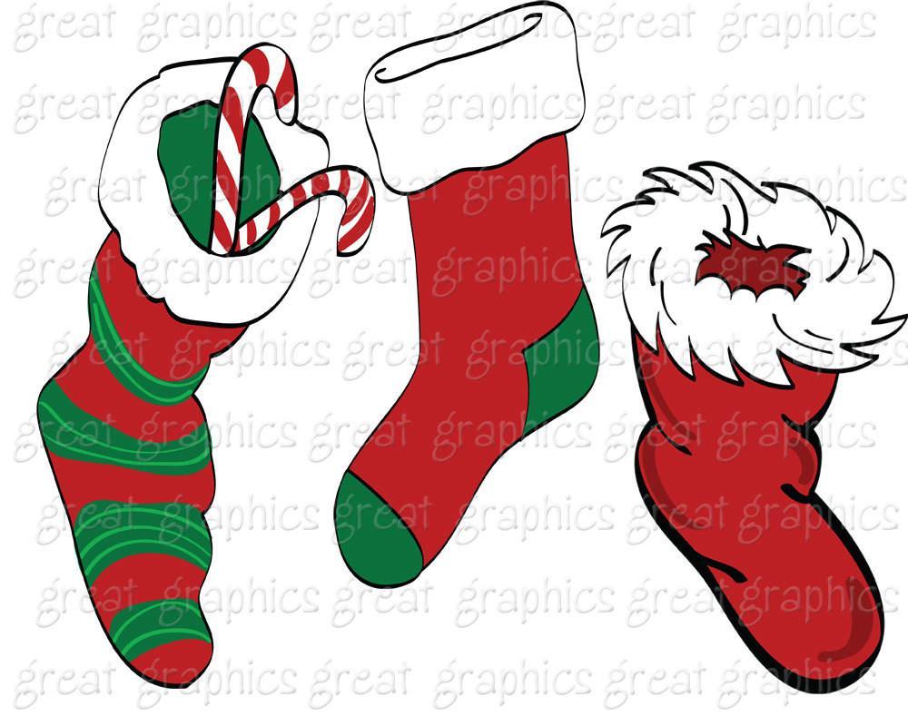 1000x800 Christmas Clipart Digital Christmas Clip Art Christmas Stocking