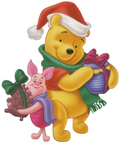 414x495 Merry Christmas Clipart Pooh