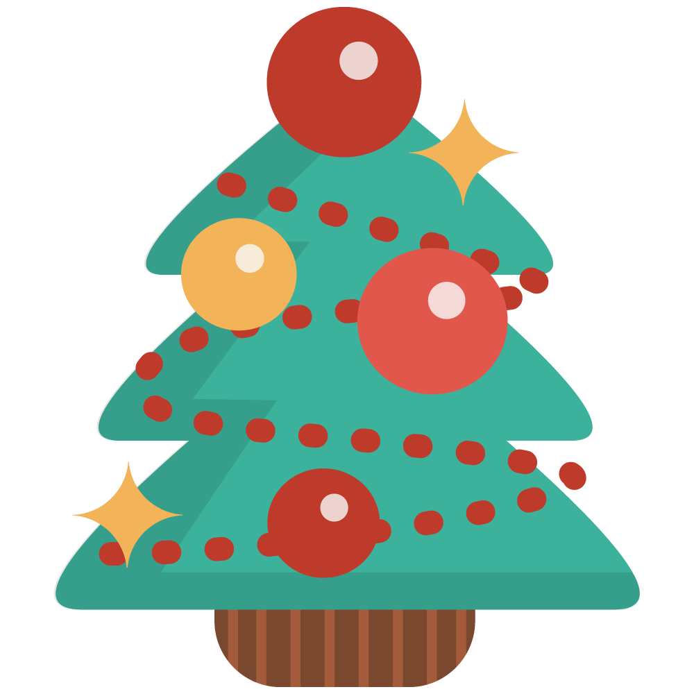 1000x1000 christmas tree free to use clip art - Simple Christmas Drawings