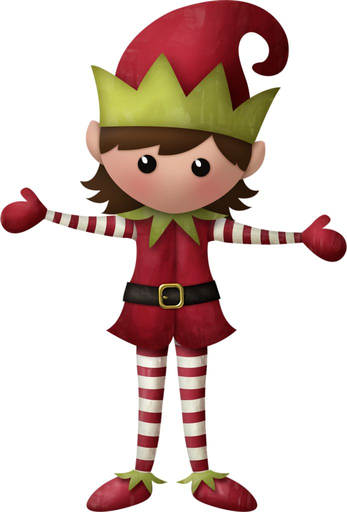 694x1024 Elf Clipart Christmas Theme