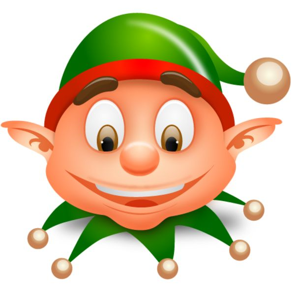 600x600 Elf Clipart Shocked