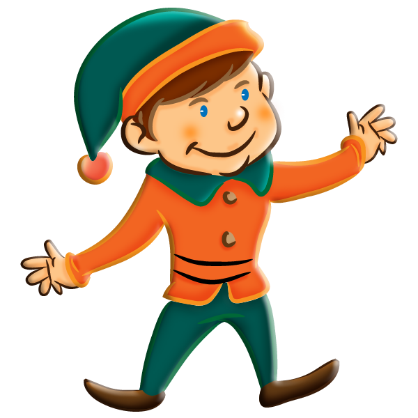 600x600 Free Christmas Elf Clipart