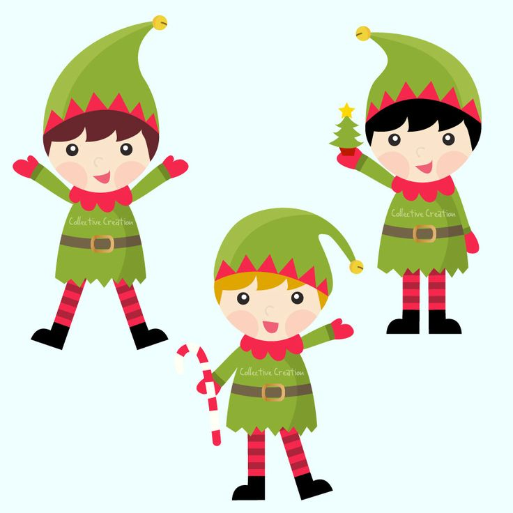 736x736 Christmas Elf Clipart
