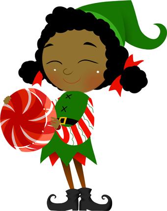 340x429 Elf Black And White Free Christmas Elf Clipart