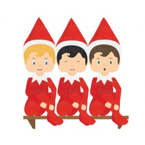 300x300 Elf On The Shelf Svg Cut File. Create Your Own Sneaky Elf