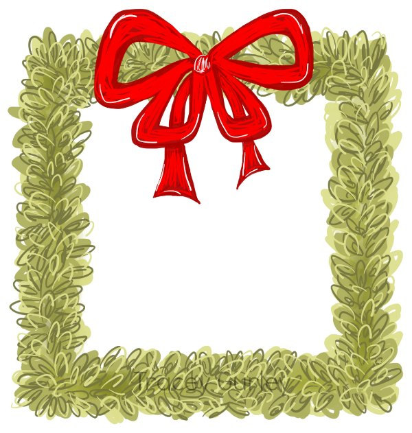 600x631 Boxwood Wreath Clip Art Watercolor Christmas Clip Art
