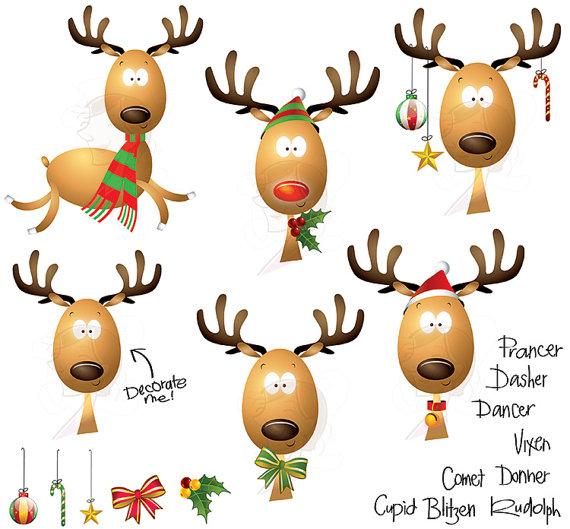 570x529 Christmas Clipart Cute Reindeer Scrapbooking Rudolph Red Nose
