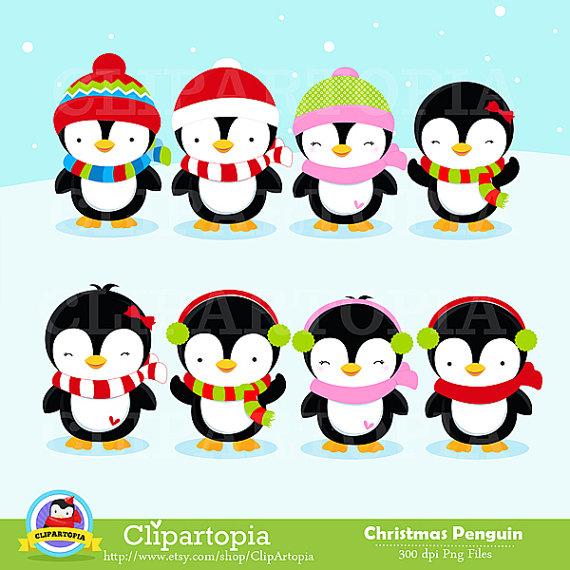 570x570 Christmas Penguin Clipart Penguin Digital Clipart By Clipartopia