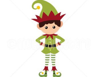 340x270 Elf Clipart Etsy