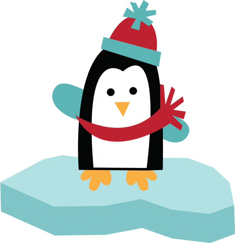 773x800 Penguin Christmas Clipart