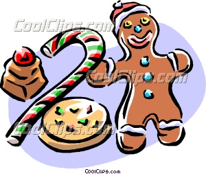 300x253 Christmas Goodies Food Clip Art