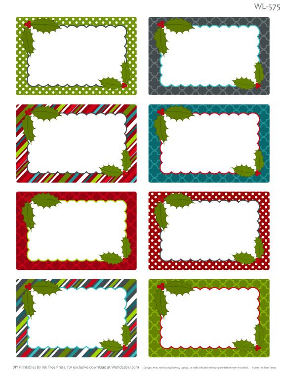 graphic relating to Free Printable Christmas Return Address Labels called Xmas Clipart For Return Include Labels Free of charge down load