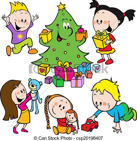 450x466 Christmas Clipart Children'S