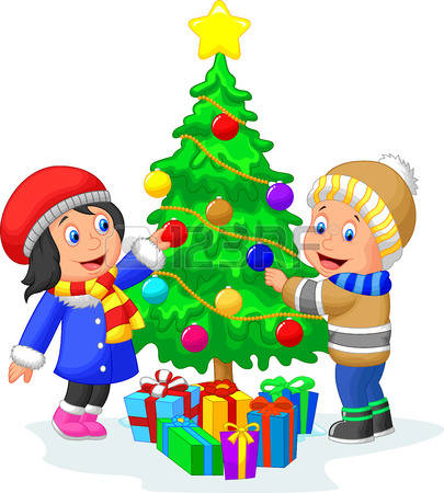 405x450 Christmas Decorations For Kids Clipart
