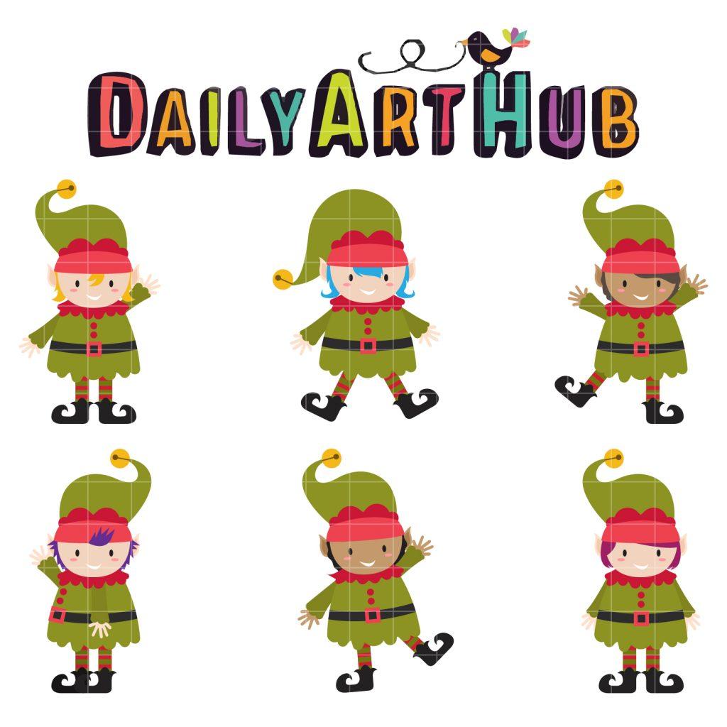 1024x1024 Christmas ~ Christmas Elf Clip Art Set Daily Hub Free Everyday