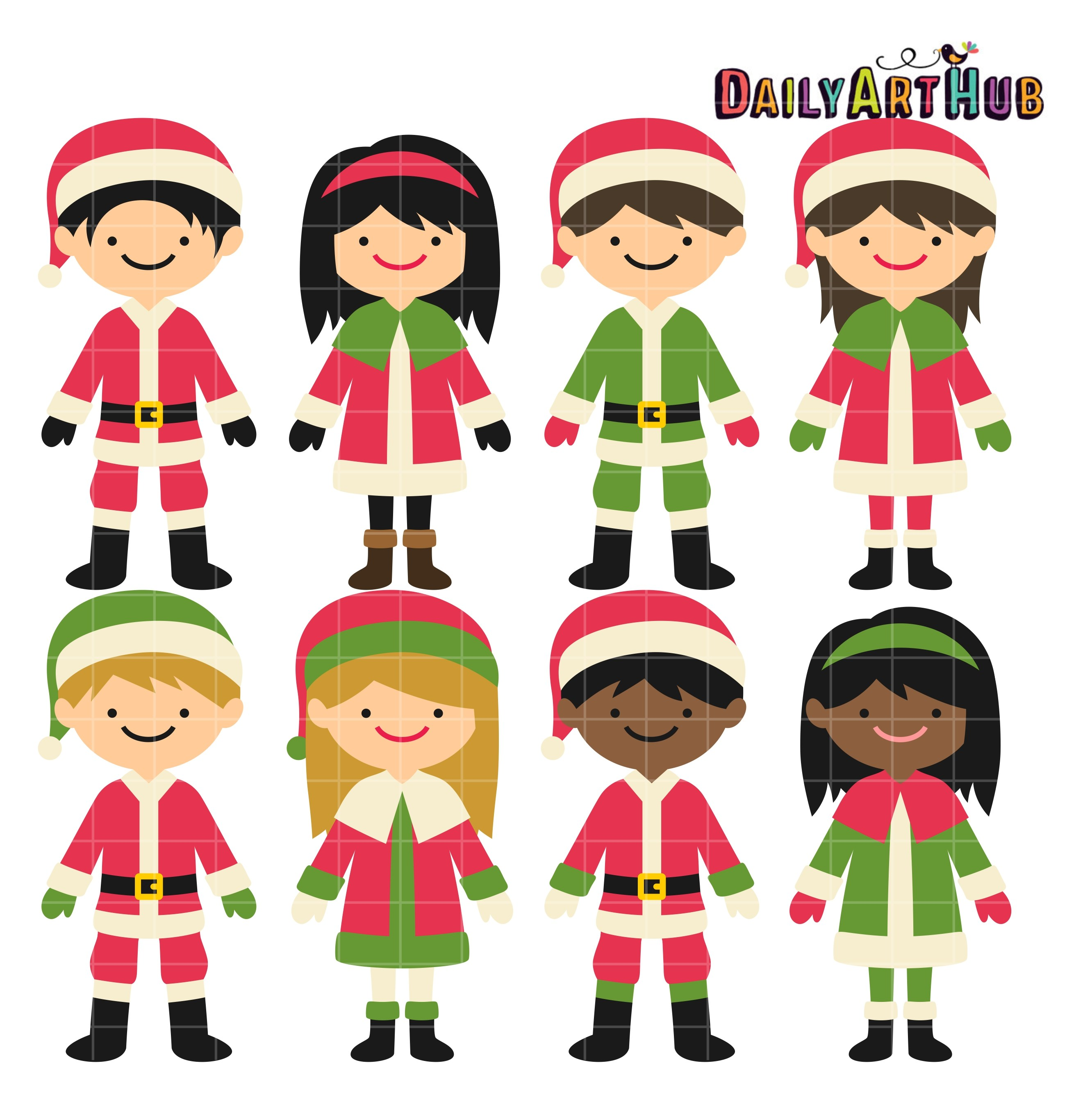 2664x2670 Kids Christmas Clipart Merry Christmas And Happy New Year 2018