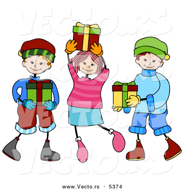 600x620 Kids Christmas Clipart