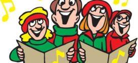 272x125 Kids Signing Christmas Carols Clip Art